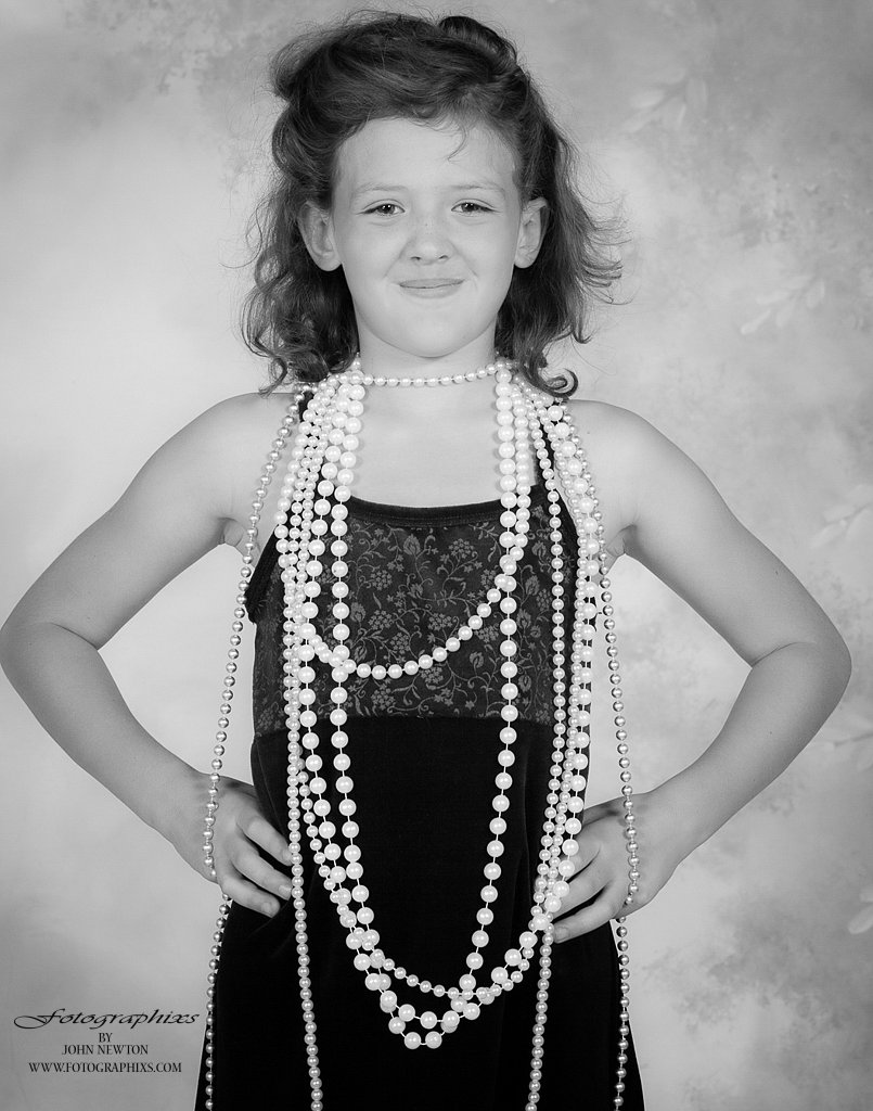 Little Lady In Beads